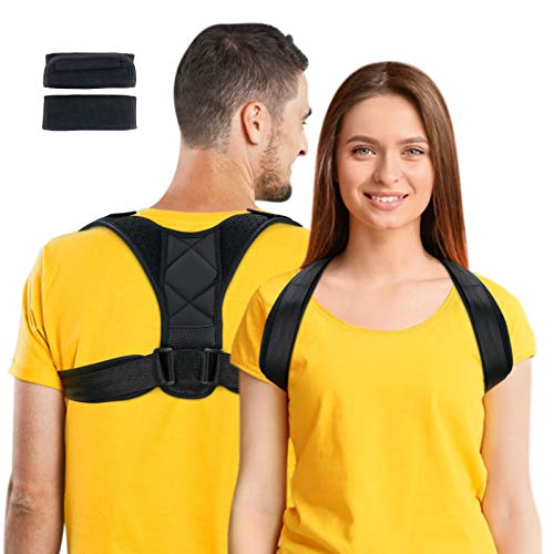 Jupuozi Posture Corrector for Men & Women -Back Brace, Adjustable Back Straightener, Support Device for Waist Pain Relief and Providing Shoulder, Relieve Back, Neck Pain.(Universal)