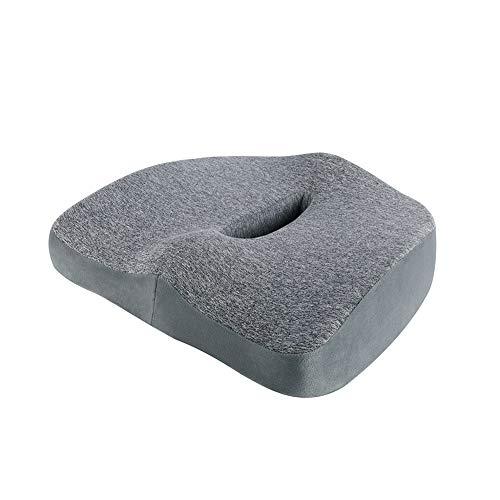 GTHUNDER Sitzkissen aus Memory-Schaum für Bürostuhl, Rollstuhl, Auto, Yoga, Meditation, stützendes und bequemes Kissen mit maschinenwaschbarem Bezug