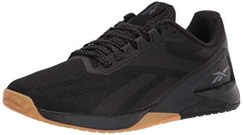 Reebok Men's Nano X1 Cross Trainer, Black/Night Black/Rubber Gum, 12