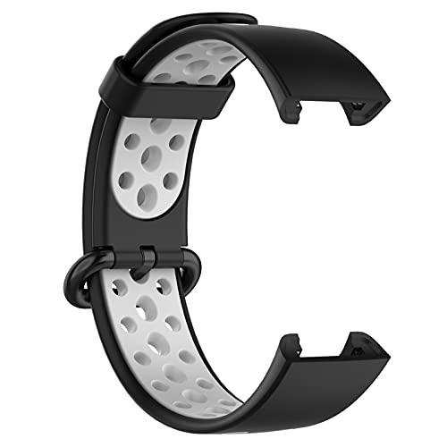 LOKEKE Correa de repuesto para Xiaomi Mi Watch LITE - Correa de repuesto de silicona para Xiaomi Mi Watch Lite (silicona negra)