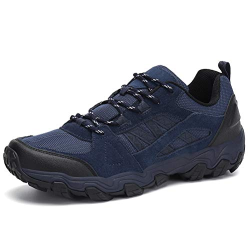 Dannto Zapatillas de Deporte Hombre Zapatos para Correr Aire Libre y Deporte Athletic Cordones Zapatillas De Running Trail Tenis Basket Respirable Gimnasio Sneakers (Azul-H,43