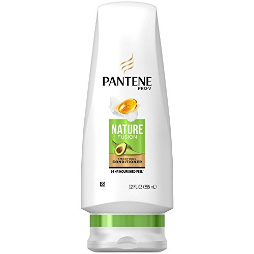 Pro-V Nature Fusion Smoothing Conditioner with Avocado Oil, Powered by Cassia, 12.6 Fluid Ounces (Pack of 3) by Pantene