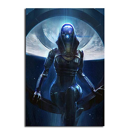 ZFLSGWZ Mass Effect Tali Wallpaper Wall Art Canvas Posters Prints Painting Salon Wall Pictures for Bedroom Home Decor -50X70Cm No Frame