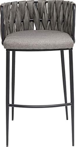 Kare Design Barhocker Cheerio, eleganter Hocker für Bartresen, minimalistischer Barstuhl in dezentem Grau, (HxBxT) 100 x 54 x 52 cm