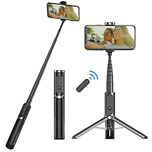 Ailun Selfie Stick Tripod,Extendable Aluminum,3 in 1,Bluetooth Wireless Remote and 360 Rotation Stand Compatible with iPhone 13/12/11/11 Pro/XS Max/XS/XR/X/8/7,and More Smartphones
