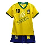 Pantalones Cortos de Verano de fútbol para niños Conjunto de Chaleco Superior para niñas Brasil* - Tamaño: 3-4 años