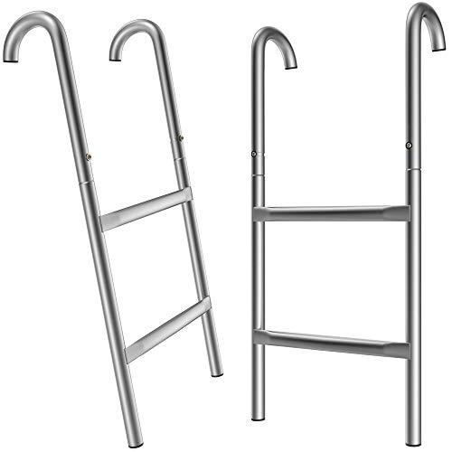 Deuba Trampolinleiter 66 cm 2 Stufen UV-beständig flexibel montierbar Sicherheitsleiter Einstiegsleiter