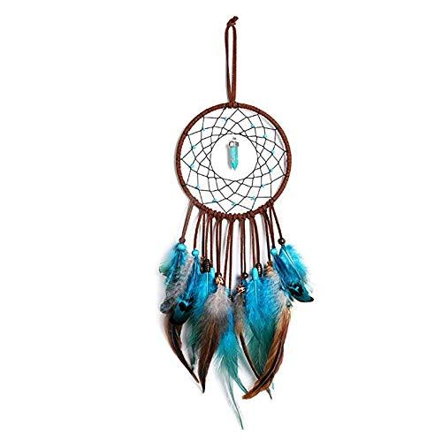 Fait à la Main Dream Catcher Filet Circulaire avec des Perles de Plumes dans Une boîte Cadeau pour la Maison Mur Voiture Pendaison décoration Ornement Blanc