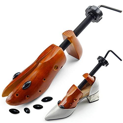 Chengzuoqing Holzschuh Holzbahre Zweiweg-Schuh-Stretchers-Schuh-Keilrahmen Paar verstellbare Längen-Breiten-Schuh-Baum für Frauen und Männer Baumschuhspanner (Farbe : Braun, Größe : L)