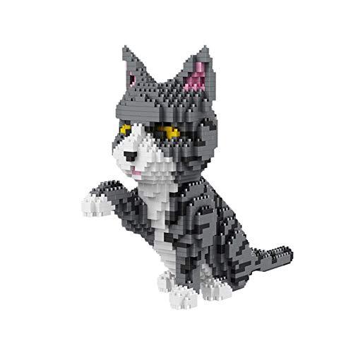 Micro Bloques Construcción Nano, Mini Figura 3D Rompecabezas Bloques Construidos Juguetes Mascotas Ladrillos Construcción Edificio Juegan Bloques