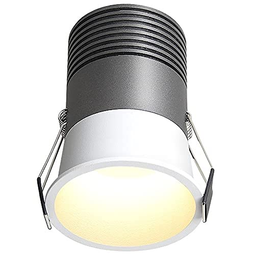 PJDOOJAE Lámpara de techo LED Luz de panel Luz Pequeño foco pequeño Embedlight Downlight Antionglight Mini Mini Spotlight Edge Edge Apertura 3.5cm, 5 mm Edge Frote Design Design Gabinete de vino Spotl