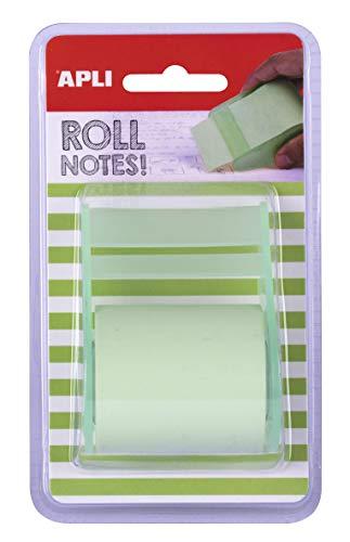 APLI 18191 - Rotolo dispenser per note, 50 mm x 8 m, colore: verde pastello