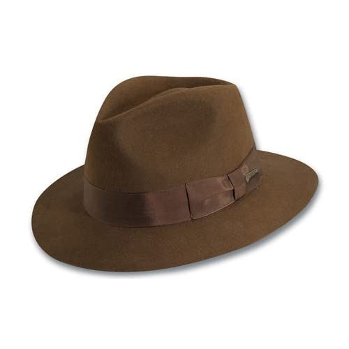 Dorfman Pacific Indiana Jones Men s Wool Felt Fedora 1e9d53345c1a