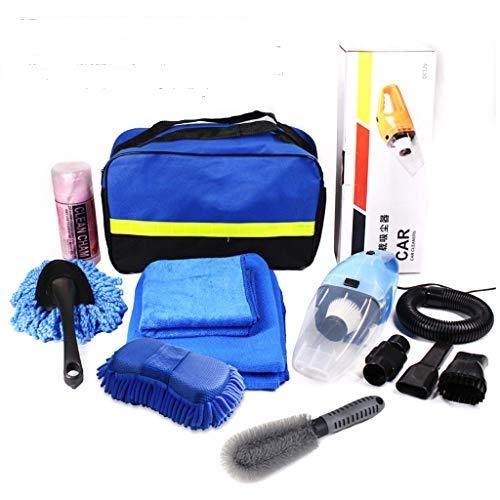 Leaer - Juego de 8 herramientas de limpieza de lavado de coches con bolsa para el lavado exterior, limpieza interior, secado de lavado y lavado para coche, moto