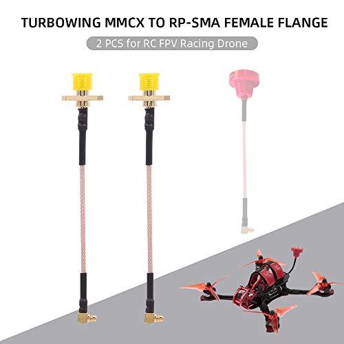 Goolsky Turbowing MMCX zu SMA Flansch FPV Antennenverlängerungskabel für RC Racing Drone Quadcopter 2 stücke