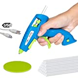 MIQLINE Mini Cordless Hot Glue Gun Kit with 20 Glue Sticks - Rechargeable Long Lasting Battery, Fast...