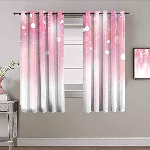 LucaSng Cortinas de Opacas - Rosa Puntos Simple Fresco. - 280x245 cm - para Sala Cuarto Comedor Salon Cocina Habitación - 3D Impresión Digital con Ojales Aislamiento Térmico Cortinas