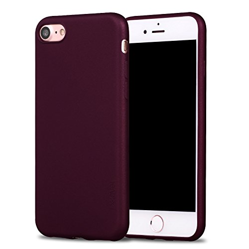 X-level iPhone SE 2020 Hülle, iPhone 8 Hülle, iPhone 7 Hülle, Soft Flex TPU Case Ultradünn Handyhülle Silikon Bumper Cover Schutz Tasche Schale Schutzhülle für iPhone 7/8/ SE (2020) - Weinrot