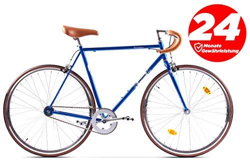 Pegas Bici Bici CITYBIKE 2 Marce 28' Vintage Retro Drop, Blu, 58