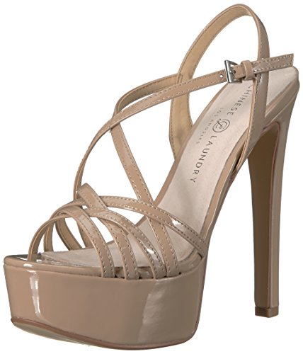 Chinese Laundry Women's Teaser 2 Heeled Sandal, Nude Patent, 8.5 M US