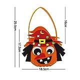 Lushi - Bolsa de goma EVA para caramelos caseros con diseño de calabaza y jardín de infantes, actividades fantasmas festivales DIY