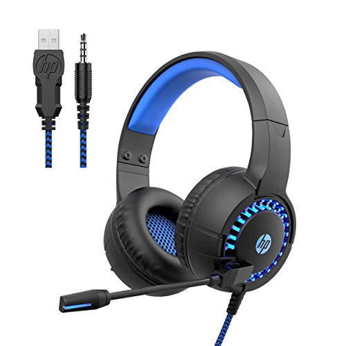 HP USB Gaming Headset RGB Stereo Headphone for Smartphone, PC, PS4, Xbox One, Ergonomic Design Over Ear Headphone with Mic