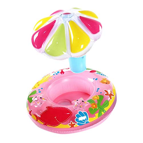 Baby Schwimmhilfe Schwimmsitz Babysitz Klein-Kinder Schwimmring - Pilz Babyboot mit UV-Schutz Dach
