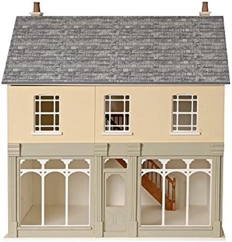 Puppenhaus 1 12 Ma ab Montagefertig unlackiert MDF Viktorianisch café Laden Set