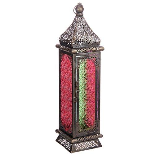 Marokkaanse Stijl Lantaarn - Geborsteld Zilver Medium