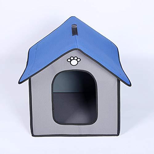 Hundebett Regen- Und wasserdichte Große Hundehütte Haustierkäfig Park Labrador Retriever Grenze Collie Deutscher Schäferhund Haustier Lebensraum L Gra