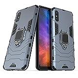 Max Power Digital Funda para móvil Xiaomi Redmi 9A / Redmi 9AT con Soporte Anillo Metálico Magnético Imán Carcasa Híbrida Antigolpes Resistente (Xiaomi Redmi 9A / Redmi 9AT, Azul Marino)