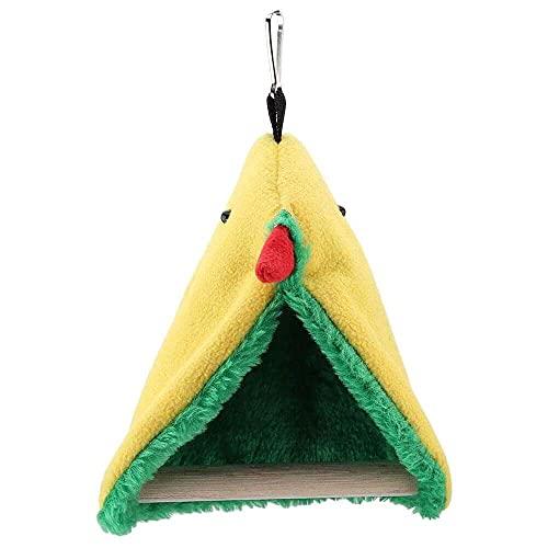 jiabushu shop Perca de pie para loros, loros triangular, jaula colgante de felpa, tienda de campaña, juguetes para pájaros, loros, cacatúas, pequeñas conures