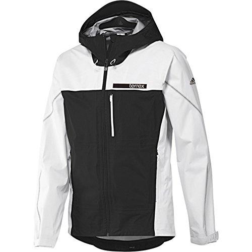 adidas Outdoor Men's Terrex Swift Gore-Tex Active Shell 3 Jacket, White/Black, XX-Large