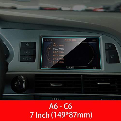 Chengxin Car Decals Coche GPS TPU Protector de Pantalla para A3 A4 A5 A6 A7 Q3 Q5 A1 A8 S3 S4 S5 S6 S7 S8 RS3 RS5 RS6 RS7 B8 B9 C6 C7 4G8 D4 (Talla : For Audi A6 C6 7inch)