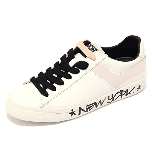 Pony 1808AC Sneaker Donna TOP Star Off White/pink Shoe Woman [37]