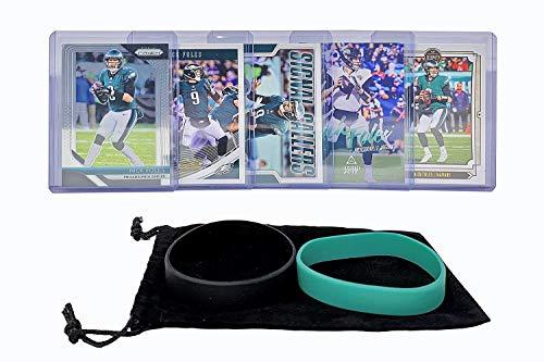 Nick Foles Football Cards (5) Assorted Bundle - Philadelphia Eagles Jacksonville Jaguars Trading Card Gift Set