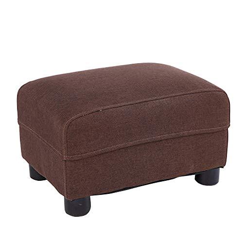 chenyang86 Chaise - salon canapé tissu changement chaussures tabouret en bois massif maison confortable tabouret court (Couleur : Brown, taille : 35 * 24 * 22cm)
