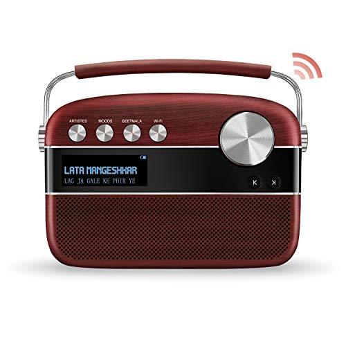 SAREGAMA Carvaan SC01 Portable Digital Music Player - Hindi (with App WiFi, Cherrywood)