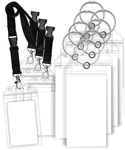 GreatShield Portamonete per Bagaglio e Portamonete identificativi per la Crociera richiudibili con Cordino per Princess, Carnival e Altro Ancora (8 titolari di Tag 4 titolari di Badge identificativi)