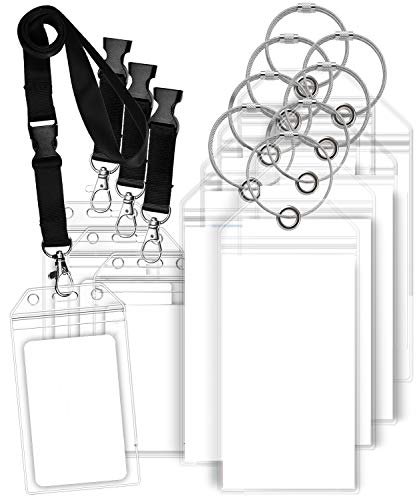 GreatShield Luggage Tags, ID Batch Holder with Lanyard Weatherproof Zip Seal & Steel Loops for Princess, Carnival, Costa, Holland America, and P&O Norwegian Cruise (8 Tags + 4 ID Holders)