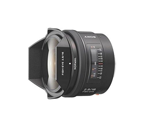 Sony SAL-16F28 Fisheye-Objektiv (16 mm, F2,8, A-Mount Vollformat, geeignet für A99, A77, A68 Serie)