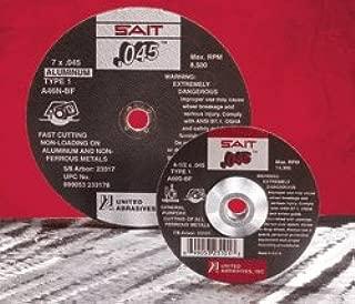 United Abrasives 23106 - Cut-Off Wheel - Grade: Medium, Grit Number: 60, Wheel Diameter: 6 in, Maximum RPM: 10200 rpm, Pack of 15