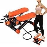 Fitness Stepper Hogar Silencioso Stovepipe Swing Stepper Máquina de Ejercicios para Adelgazar con Pull-Up Mini Paso a Paso Lateral Giratorio multifunción 150 kg de Carga