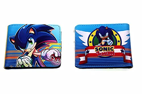 Billetera Sonic Sonic the Hedgehog 2 doll coin purse sonic2 supersonic mouse wallet wallet paquete de tarjeta de estudiante regalo para hombres y mujeres