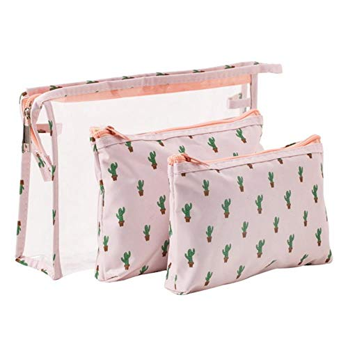 POMU Waterdichte Flamingo Cosmetische Tas 3 stks pak Reizen MakeUp Pouch Tassen Organizer Beautician Toilettas