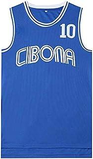 JAG Camiseta de Baloncesto para Hombre Petrovic Cibona 10#, versión cinematográfica de Uniformes de Baloncesto, Camiseta sin Mangas Unisex, Ropa Deportiva de Baloncesto de la NBA NCAA Swingman