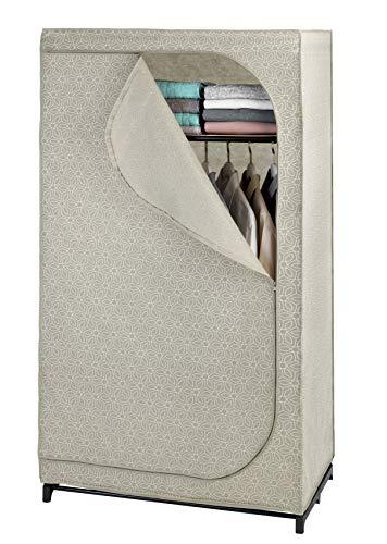 WENKO Kleiderschrank Balance mit Ablage - mobile Garderobe, Faltschrank, Polypropylen, 90 x 160 x 50 cm, Taupe