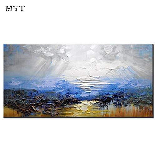 Landschap Abstracte schilderstijl Moderne muur Canvas schilderij Acrylverf voor thuis Wanddecoratie Geen lijst70cmx140cm