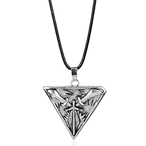 Xianglsp Co.,ltd Herren Halskette Game League Legends Schmuck Trinity Force Seil Kette Halskette Dreieck Schwerter Waffen Anhänger für Männer Frauen