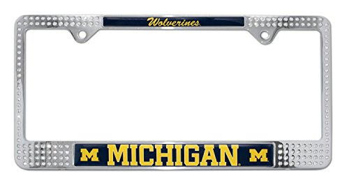 University of Michigan 'Wolverines' Crystal License Plate Frame